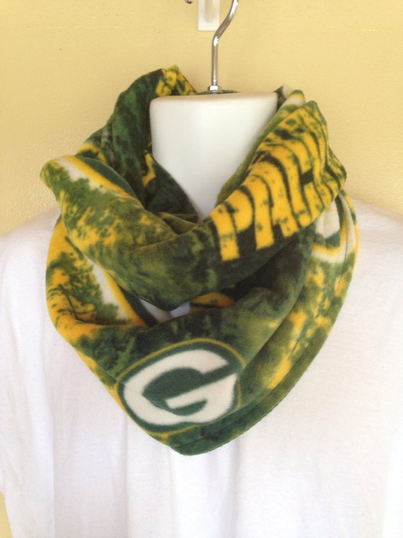 green bay packers fleece neck warmer infinity scarf