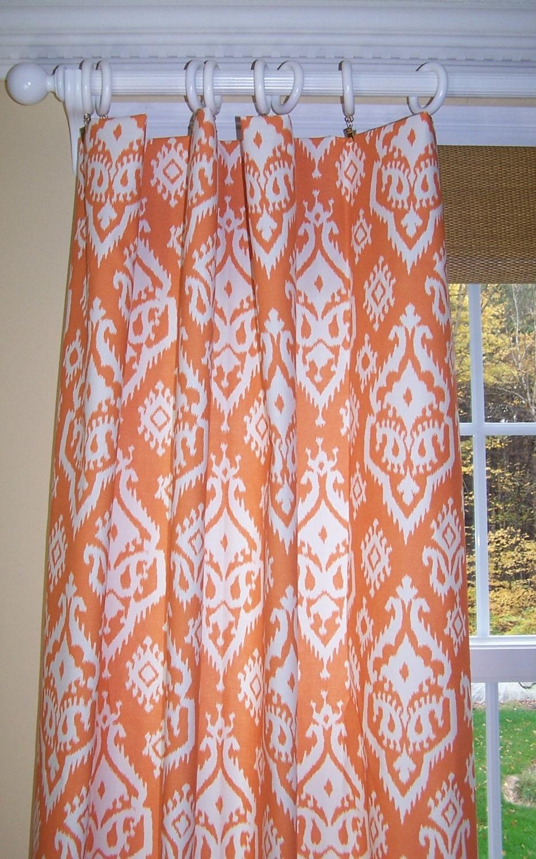 ikat curtains orange curtains comanche orange premier prints