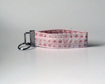 Pink Wristlet Key Fob, keychain