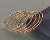 14k stack rings/ 14k gold stacking rings