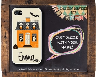Haunted House iPhone Case, Personalized Halloween iPhone Case, Fits iPhone 4,  iPhone 5, iPhone 5s, iPhone 5c, iPhone 6, Phone Cover