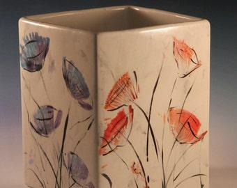Large Square Bloom Vase