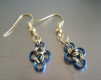 Clover Chainmaille Earrings