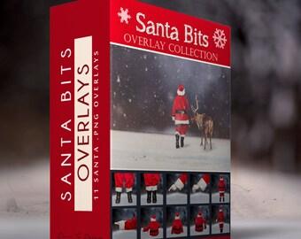 Santa Bits - 11 PNG Santa Overlays