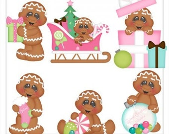 Sweet Christmas Gingerbread Clip Art - Download
