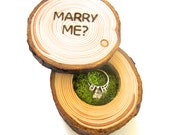 Proposal Ring Box, Wedding Proposal Box, Engagement Ring Box, Rustic Wood Box