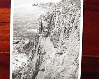 Early English Postcard of The Cliffs, Lands End used