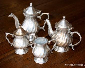 Mini silver tea set // Middle Eastern silver tea pot // vintage silver tea service