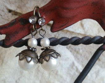 Rustic Pearl Earrings