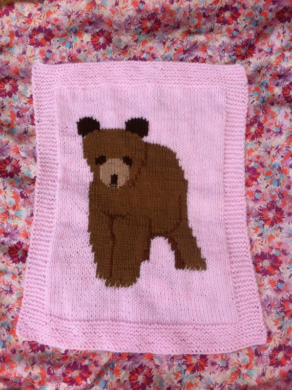 Knitting Needles Norwich : Big brown bear blanket chunky knitting pattern from