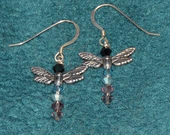 Pastel Dragonfly Earrings