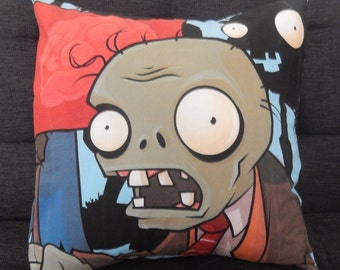 Plants vs Zombies PvZ Fabric Cushions - Handmade by Alien Couture