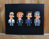 X-Files Perler Bead Wall Art