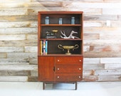 CYBER SALE Vintage Mid Century Modern MCM Atomic China Hutch Cabinet Buffet Dry Bar Office Storage