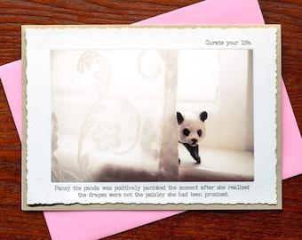 Photo Greeting Card: Pansy the Panda
