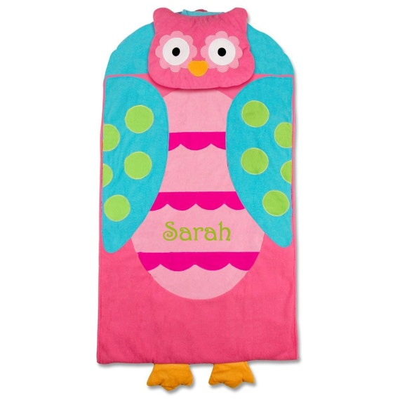 Personalized Owl Nap Mat Or Sleeping Bag For Toddler Girls Day