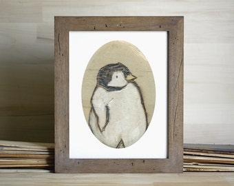 Baby Penguin Giclee Art print by Britney Jette