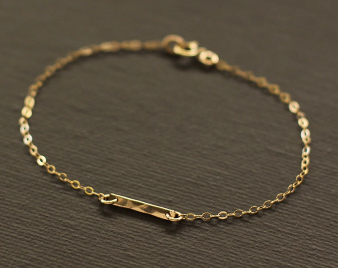 Gold Bar Bracelet - 14K Gold Filled Bar Bracelet