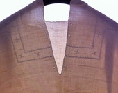 Sea stars. Antique italian women linen, chemise, nightgown, early twentieth, natural fiber
