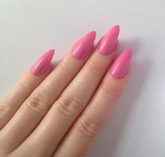 Matte pink stiletto nails Nail designs Nail by ...