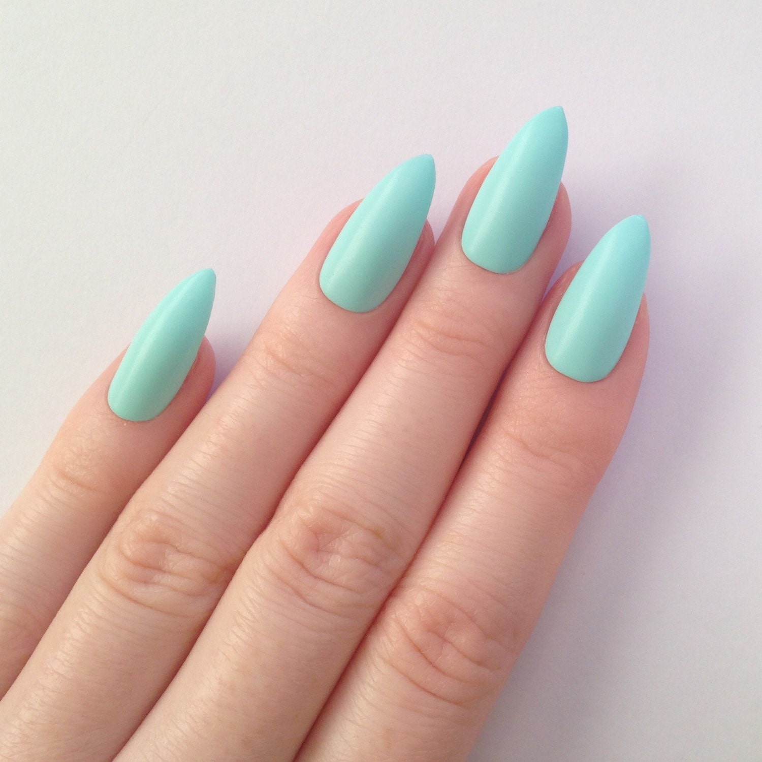 Today Live Sports: Matte Mint Stiletto nails, Nail designs, Nail art ...