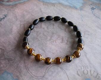 African tiger eyes bracelet
