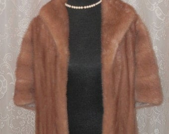 FREE USA SHIPPING,, mink stole, Mink Capelet, Vintage ,Mink Coat, Fur Caplet, Mink Shawl, wedding, anniversary , New Years ,womens fur coats
