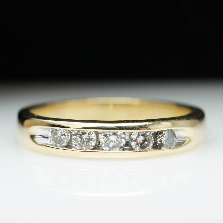 sale vintage 25ct 5 stone diamond wedding anniversary band. Black Bedroom Furniture Sets. Home Design Ideas