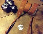 Chestnut Dublin Horween Leather Camera Strap. Handmade. (FREE SHIPPING)
