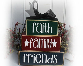 Faith Family Friends Itty Bitty Stacking Blocks