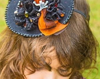 Mini Witch Hat Halloween Headband, Photo Prop, Halloween Headband, Halloween Accessories, Mini Witch Hat Headband