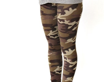 Womens Leggings, Leggings, Yoga Leggings, Workout Leggings, Yoga Pants, Camo Leggings, Womens Tights, Womens Pants, Womens Clothing