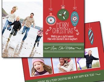 "Traditional Photo Christmas Card -  5"" X 7"" Digital File"