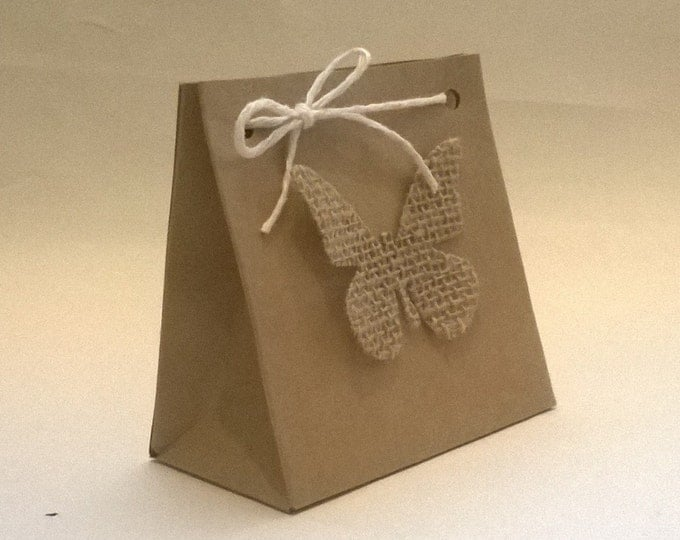 Handmade Butterfly Gift Bag, Made to order, Wedding Favour, Free Shipping
