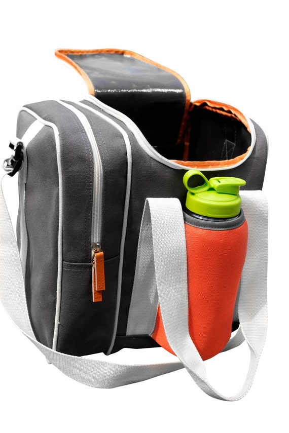 canvas sports bag with shoe compartment by theyellowpacifier