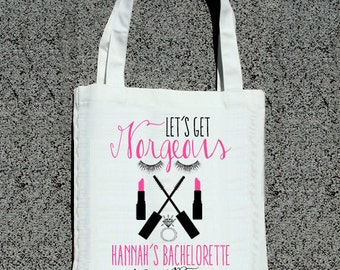 Bachelorette Spa Party Tote - Wedding Welcome Tote Bag