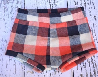 Plaid Baby Shorts, baby shorts, toddler shorts,baby girl shorts, baby bloomers, diaper cover, baby outfit