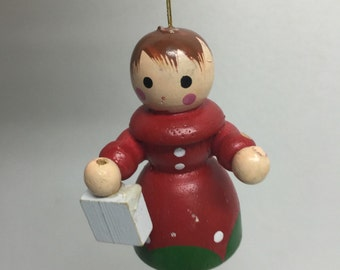 Vintage wooden boy  Ornament / Christmas   wooden  ornament   / Vintage Christmas decoration / wooden Ornament