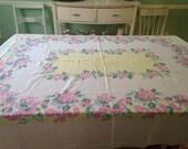 Vintage Floral Tablecloth