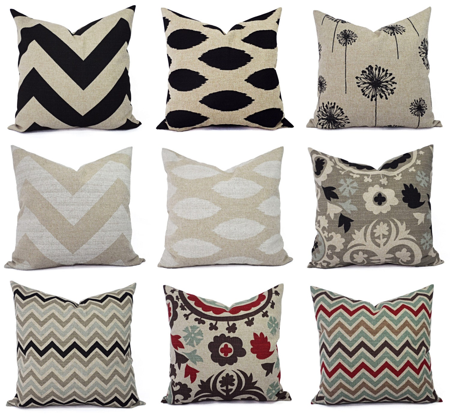 Brown Sofa Pillows: One Brown Couch Pillow Cover Brown And Cream By