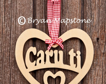 Caru ti heart (Love you)