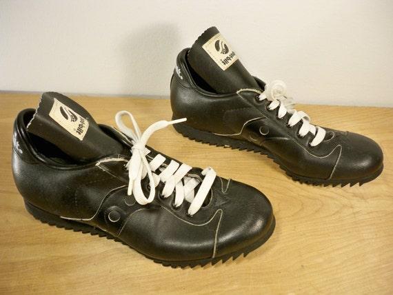 vintage spot bilt black leather low top s athletic by