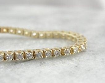 Classic Diamond Tennis Bracelet in Yellow Gold KW1DRP-R