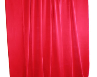 New 120 H Fuchsia Velvet Curtain Long Panel Custom Made Drapes Extra Wide Banquet Wedding