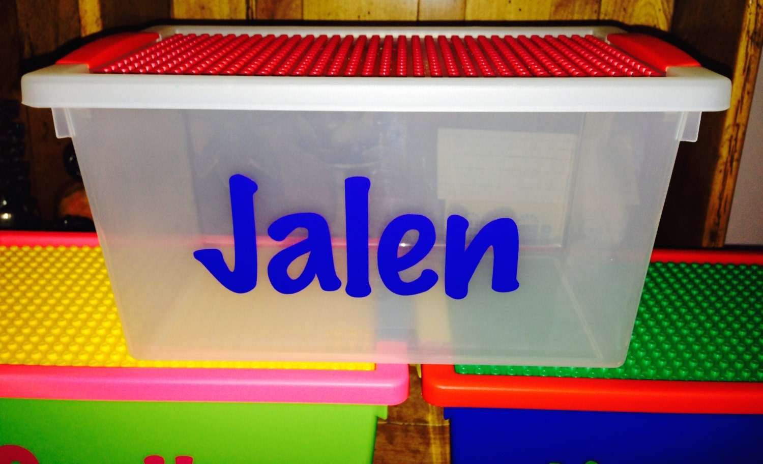 Personalized Lego Storage Container Store By
