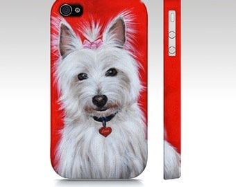 Westie terrier dog phone case for iPhone 4/ 4S, 5/ 5S, iPhone 6, Samsung galaxy s3, Samsung galaxy s4, samsung galaxy s5- west highland