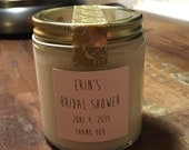 Fifteen, 4 ounce soy candle bridal shower favor (style 007)