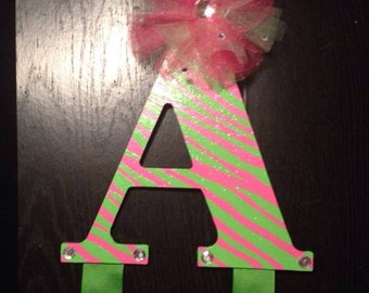 "Letter ""A"" Hair Bow Holder"