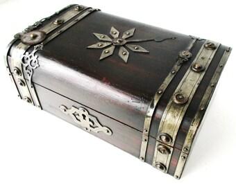 Antique STEAMPUNK JEWELRY BOX