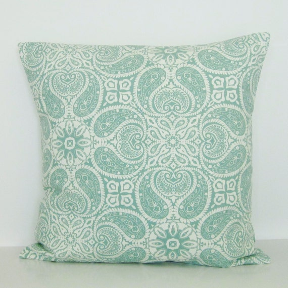 Throw Pillow Seafoam Green : Seafoam Spa Green Geometric Pillow Cover Decorative Throw